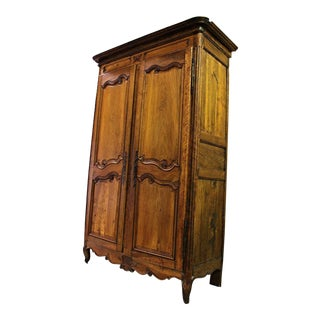 Fine 18th C French Country Armoire Wardrobe For Sale