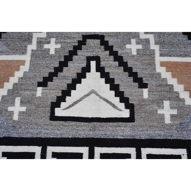 "Vintage 1920s Navajo Geometric Rug - 3′6″ x 73"" - Image 8 of 11"