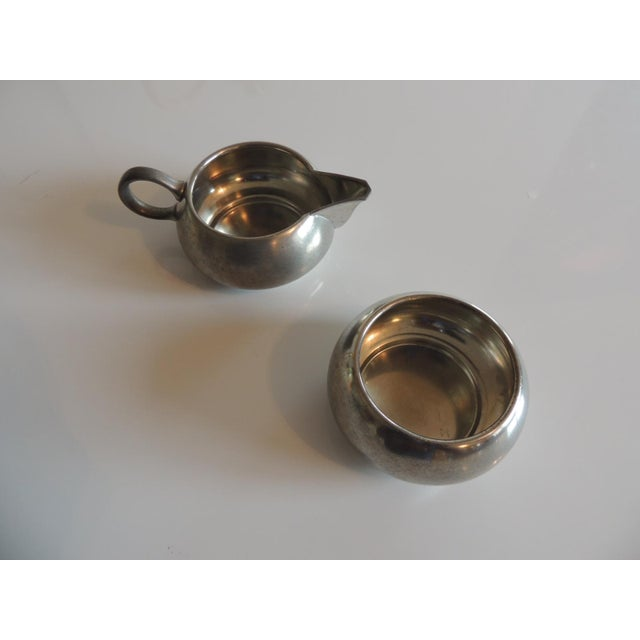 Vintage Decorative Pewter Tea Set. For Sale In Miami - Image 6 of 10