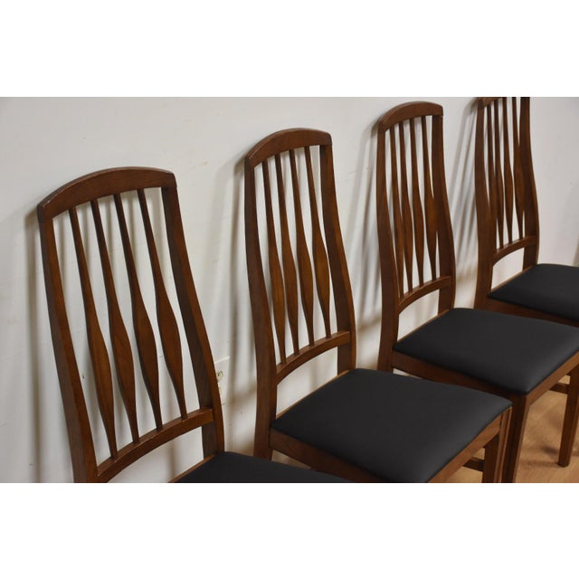 1960s Keller Black Vinyl Dining Chairs - Set of 4 For Sale - Image 5 of 11