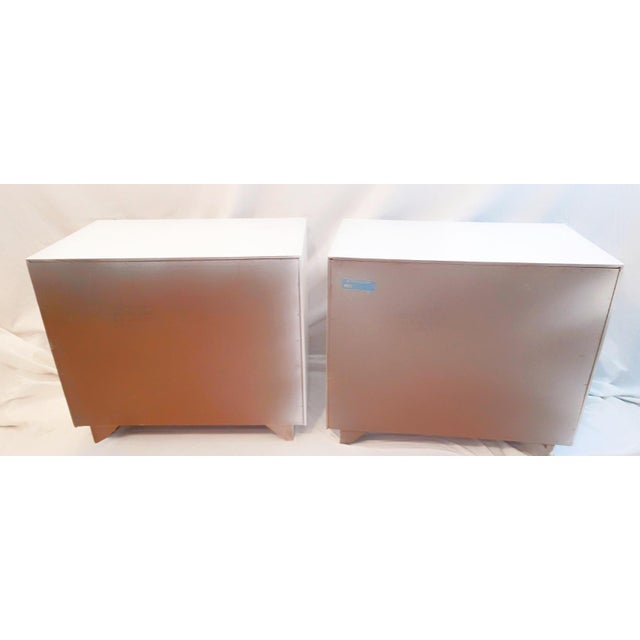 1960s 1960s Drexel Accolade White Lacquered Campaign Nightstands - a Pair For Sale - Image 5 of 12