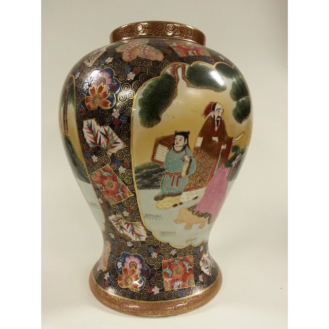 Chinese Famille Rose Vintage Style Temple Jar/Pair - Image 5 of 8