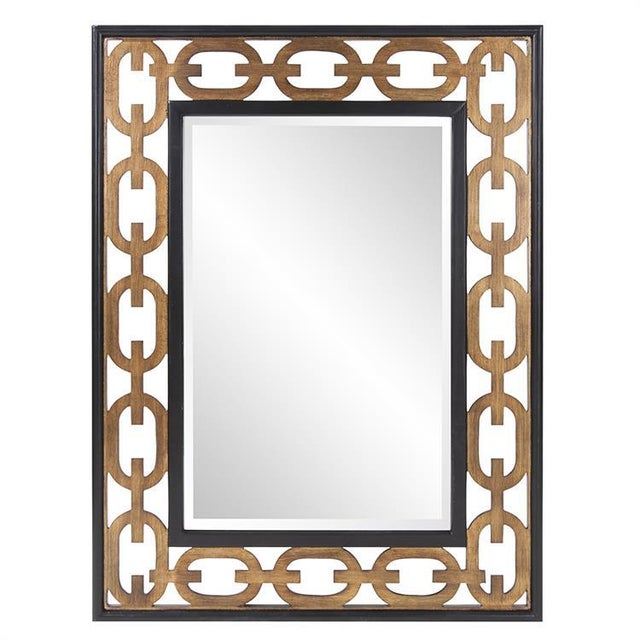 Gold Kenneth Ludwig Chicago Chain Link Mirror For Sale - Image 8 of 8
