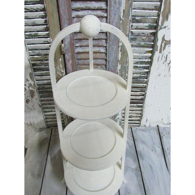 Vintage 3-Tier English Side Table For Sale - Image 5 of 5