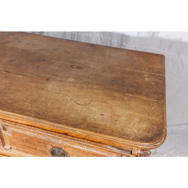 18th Century French Distressed Finish Three-Drawer Commode For Sale - Image 9 of 13