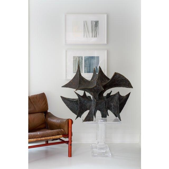 Brutalist Bj Las Ponas Bronze Sculpture For Sale - Image 3 of 3