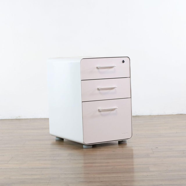 Poppin White File Cabinet For Sale - Image 4 of 9
