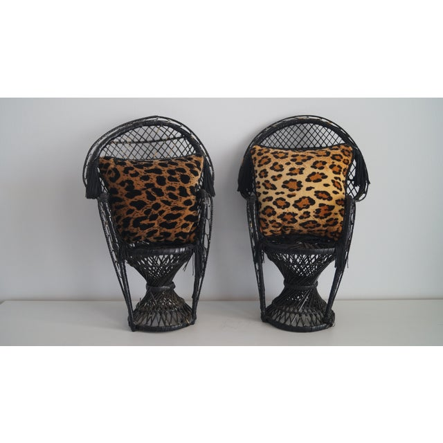 Newport Pottery 1980s Vintage Mini Throw Pillows With Leopard and Cheetah Prints - a Pair For Sale - Image 4 of 5