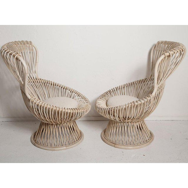 1950s Restored Pair of 1950s Margherita Chairs by Franco Albini for Vittorio Bonacino For Sale - Image 5 of 9