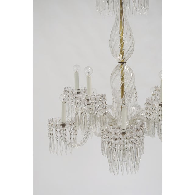 Transparent Antique Baccarat Undulating 10-Armed Crystal Waterfalls Chandelier For Sale - Image 8 of 8