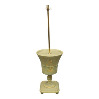 Vintage Flower Pot Floor Lamp in Chartreuse For Sale