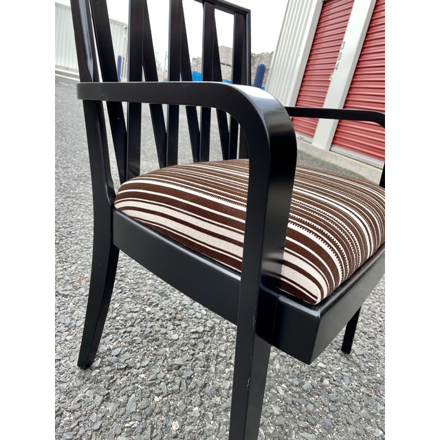 Wood Paul Frankl for Johnson Furniture Zig Zag Armchair 1950s For Sale - Image 7 of 13