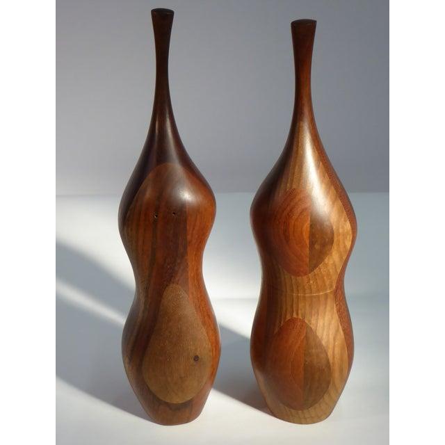 Pair of Organic Walnut Salt & Pepper by Daniel Loomis Valenza Design For Sale - Image 9 of 10
