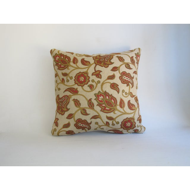 Red & Tan Paisley Vine Pillow - Image 2 of 5