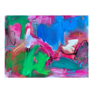 """""""Rainy Day"""" by Trixie Pitts Large Abstract Oil Painting For Sale"""
