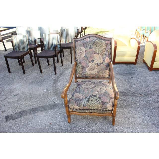 Solid Walnut Louis XIII Style Os De Mouton 2 Armchairs 1 settees Circa 1900s - Set of 3 - Image 8 of 11