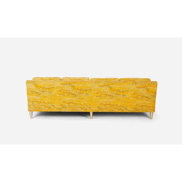 1960s Jack Lenor Larsen 4 Seat Sofa on Brass Legs For Sale - Image 5 of 7