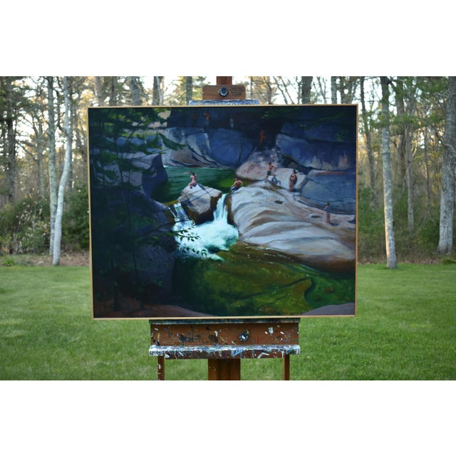 Upper Falls Swimming Hole in Vermont Contemporary Painting by Stephen Remick For Sale - Image 10 of 12