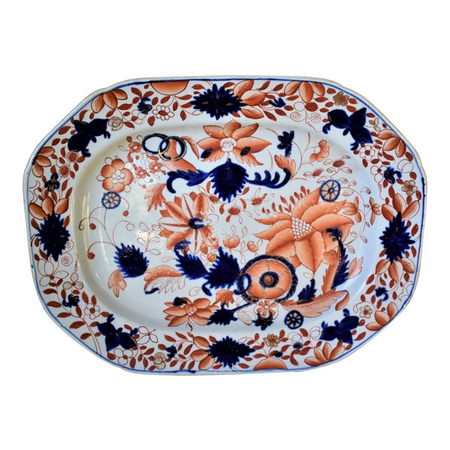 Antique Mason's Ironstone Platter For Sale