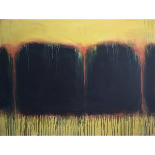 Yellow Sunset Abstract Painting For Sale