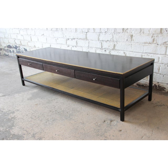 """Paul McCobb for Calvin """"Irwin Collection"""" Double-Sided Leather Top Coffee Table For Sale - Image 11 of 13"""