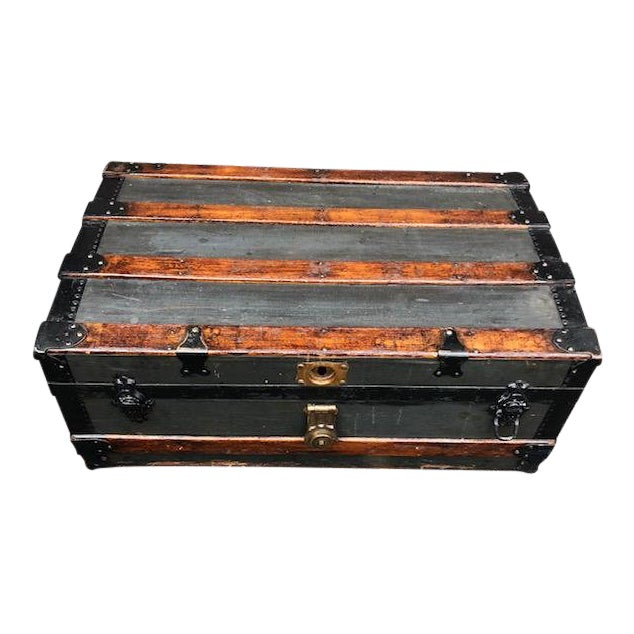 19th Century American Classical Customized Travel Trunk For Sale