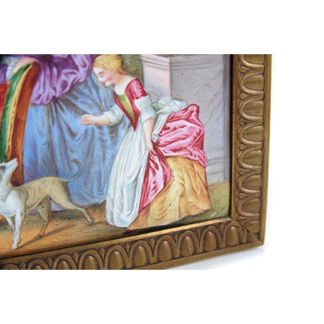 Ceramic 19th C. French Painted Porcelain Plaque For Sale - Image 7 of 9
