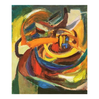 'Organic Abstract' by Dora Masters, 1950's Woman Artist, San Francisco Bay Area Abstraction For Sale