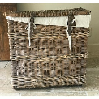 Early 20th Century French Harvest Basket With Linen Liner Preview