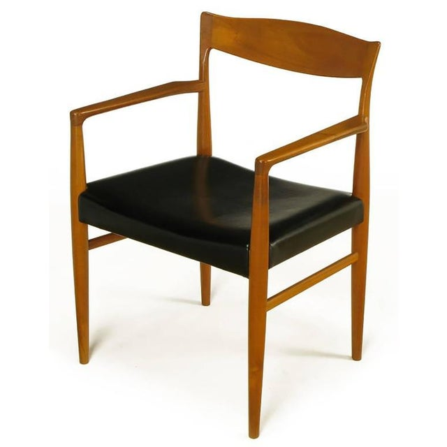 Six Teak Sculptural Back Dining Chairs, circa 1960s - Image 4 of 9