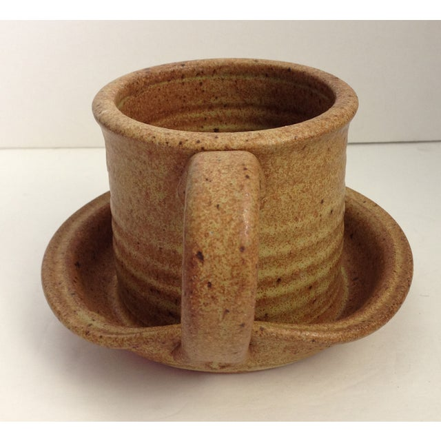 Vintage MCM Studio Art Pottery Gravy/Juice Vessel - Image 6 of 9