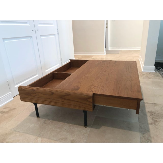 Mid-Century Modern Coffee Table With Storage Space For Sale In Los Angeles - Image 6 of 9