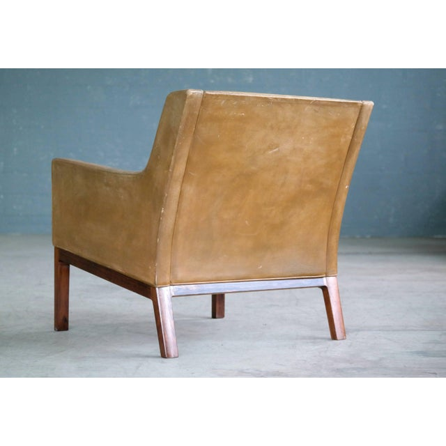 Kai Lyngfeldt Larsen Easy Chair Model 39 Leather Rosewood for Søren Willadsen For Sale - Image 9 of 11