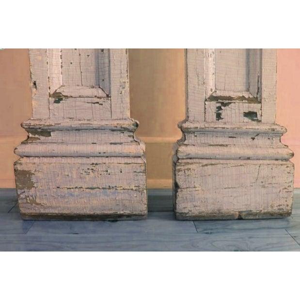 Antique Decorative Architectural Columns - Pair - Image 3 of 9