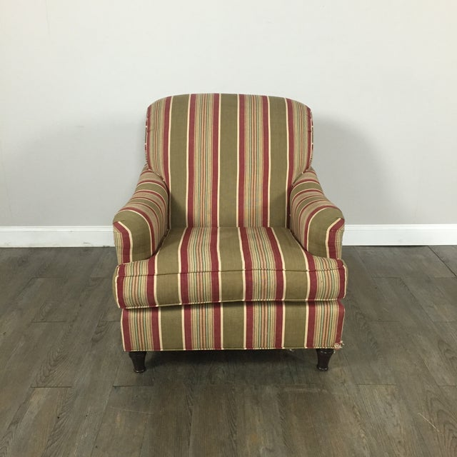 Pottery Barn Striped Armchair - Image 3 of 11
