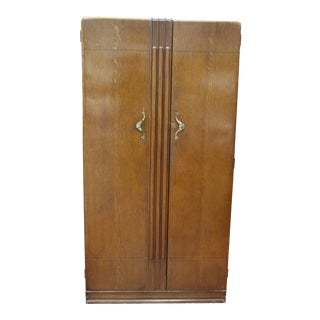 1940s Art Deco Style Armoire For Sale