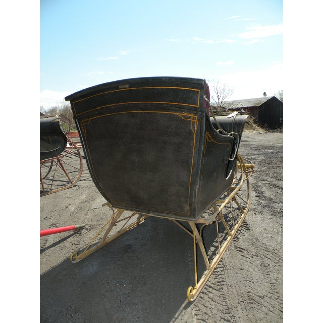 Antique Portland Cutter Sleigh Christmas Sled For Sale - Image 4 of 10