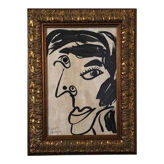 "1980s Peter Keil ""Picasso Face"" Painting For Sale"