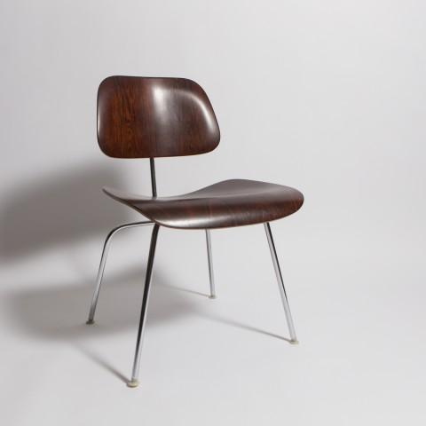 Rare 1960's rosewood DCM by Charles Eames, MFG. Herman Miller. Shock mounts are excellent-metal in good original condition...