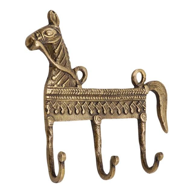 Bohemian Brass Horse Wall Hooks For Sale
