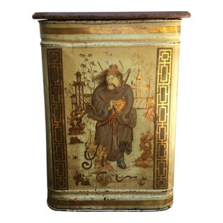 19th Century Chinoiserie Retailer's Tea Bin For Sale