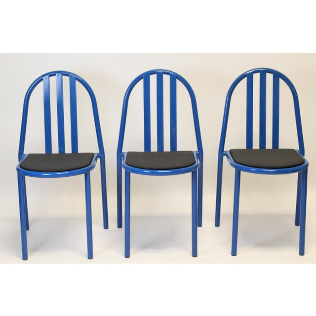 Trio of great tubular steel chairs. Robert Mallet-Stevens is a well known French architect and designer with these chairs...