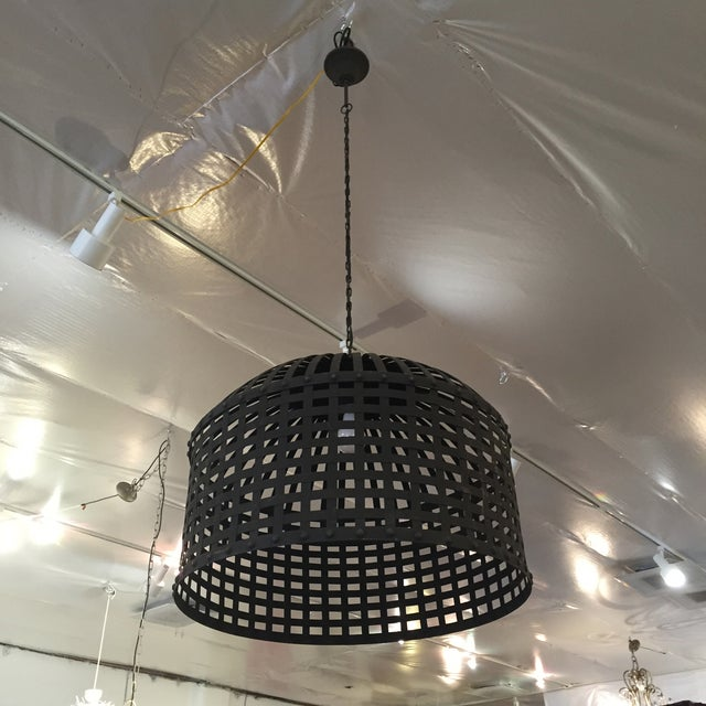 Industrial Cage Pendant Light - Image 7 of 9