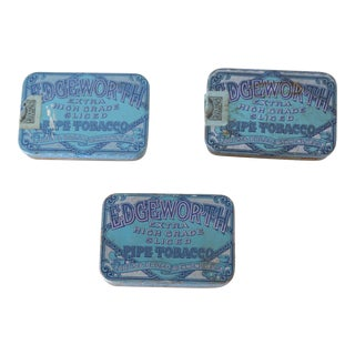 Early 20th Century Vintage Edgeworth Pipe Tobacco Tins - Set of 3 For Sale