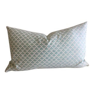 "Fortuny ""Canestrelli"" French Blue and White Pillow For Sale"