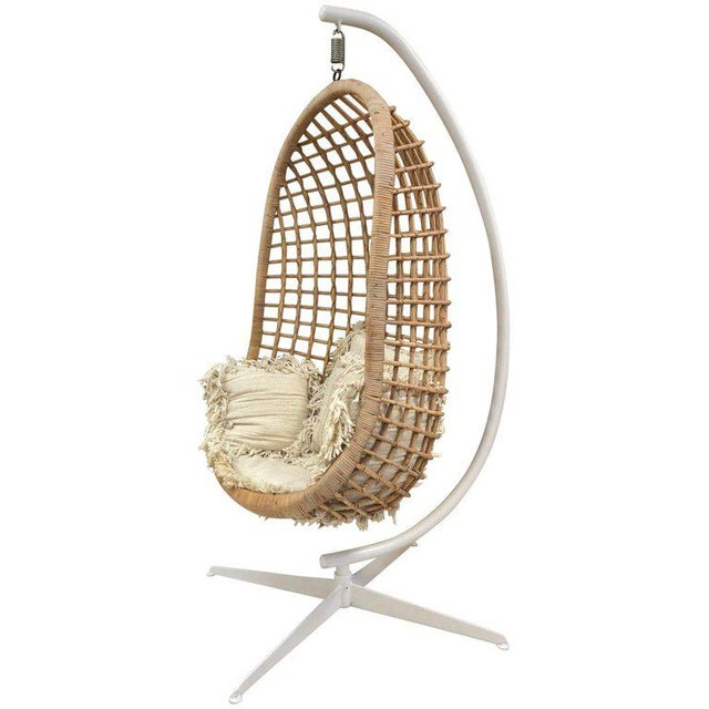 1960s Rattan Swing Chair For Sale - Image 10 of 10