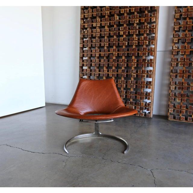Metal Preben Fabricius & Jørgen Kastholm Scimitar Chairs by Ivan Schlecter Circa 1965 For Sale - Image 7 of 11