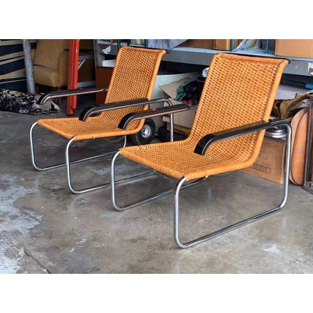 Classic Marcel Breuer B35 Chairs Icf - a Pair For Sale - Image 13 of 13