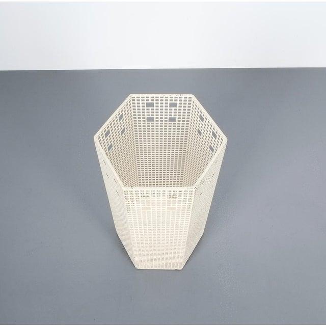 Art Deco Josef Hoffmann Umbrella Stand for Bieffeplast White, Italy, Circa 1980 For Sale - Image 3 of 7