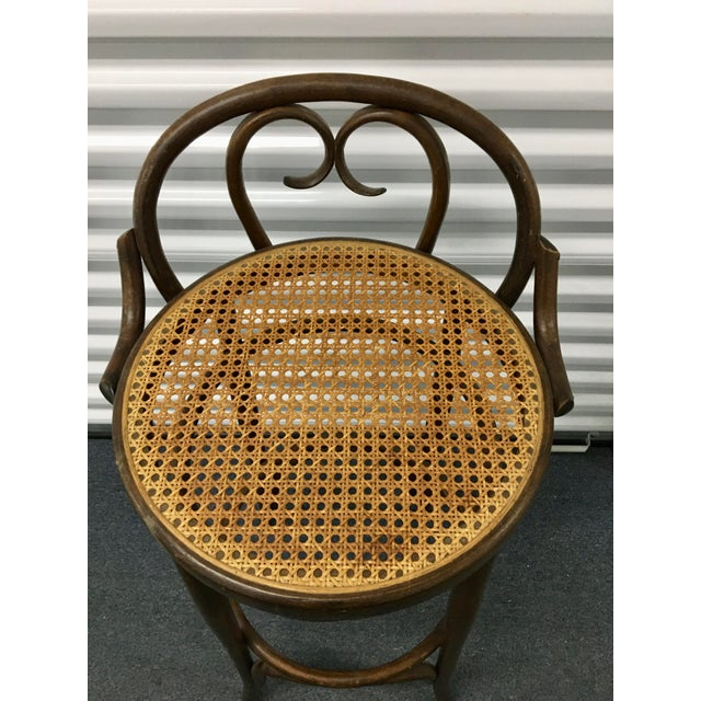 Brown Vintage Salvatore Leone Bentwood Bistro Chair For Sale - Image 8 of 10